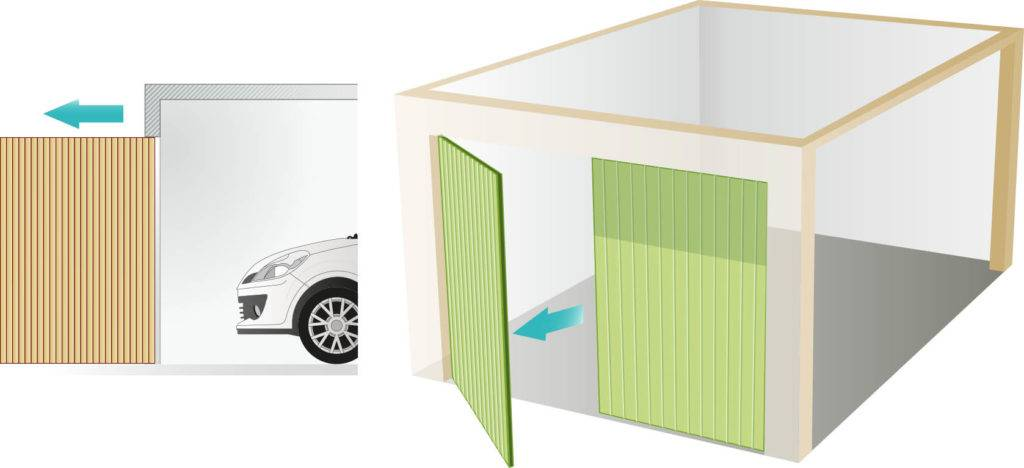 side hinge garage door model